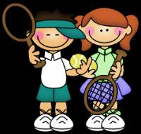 тенис деца тренировки упражнения корт